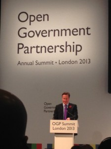 Open Government Partership Summit, London, 2013