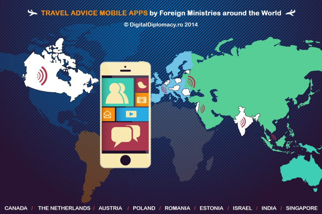 Global map of mfa mobile apps for citizens traveling abroad world map 2014 final 1024x682 gumiabroncs Gallery