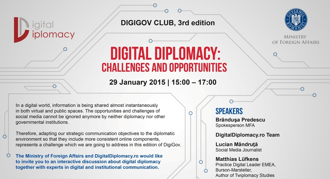 The third edition of DigiGov is focused on Digital Diplomacy!