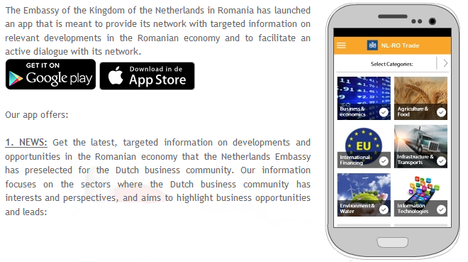 Dutch Embassy in Romania_mobile app
